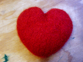 Felted Heart by woozalia