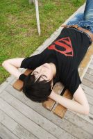 Superboy taking a nap by Asuka10