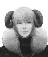 Gaia Commission #13 (Black and White Version) by MonochromeLapin