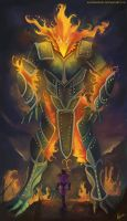 RIFT Fire Colossus by AlineMendes