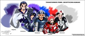 TFP: Decepticons humanized by DJMoonRay