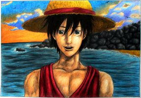 Luffy - I'm happy as can be... by lazzapepper