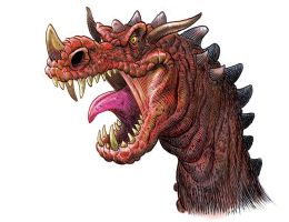 Dragon In Sketchbook Pro 6 by grobles63