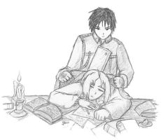 FMA sketch- Father and Son by ACDragonMaster