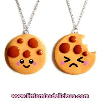 Cookie necklaces by LittleMissDelicious