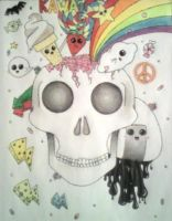 .:rainbows and skulls:. by fuzz-ball123