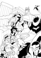 TFA and the JLA by TheBoo