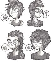 Drawing Style: Tim Burton FF15 by MadeInHeavenFF15