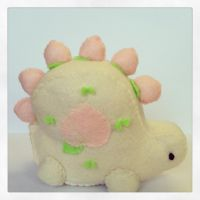 Little Peachasaurus Plush by PinkChocolate14