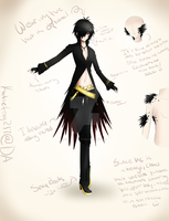 OC/Utau Consept: Crow Outfit Alt./ Ref.Sheet by Katiefrog217
