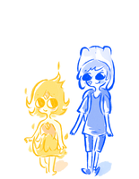 Finn and Flame Princess by wolforchid