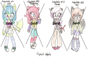 Sonic Adopt Set - CLOSED! by PandasInMuffins