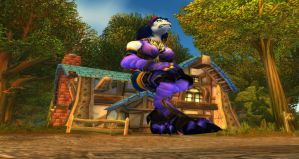 Giantess in Goldshire by FuryRider