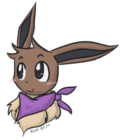 Rin the Eevee Headshot by KiwiBasket