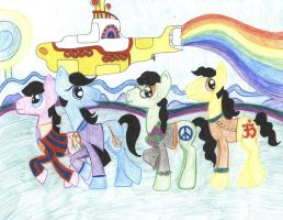 Yellow Submarine Beatles Ponies by johnpaulgeorgeringo6