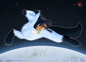The Horse Jumped Over The Moon by Exhaltorio