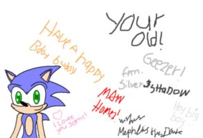 Card for Sonic by sahara-lynne