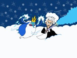 Hitsugaya and Ice King by Hedgehog-Russell