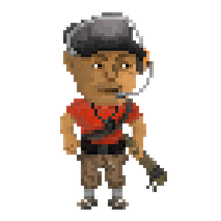 Team Fortress 2: Scout [Pixel Art] by SymbiopticStudios