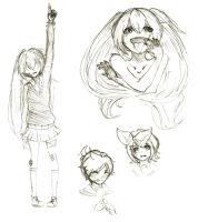 Vocaloid sketches by jyokyori