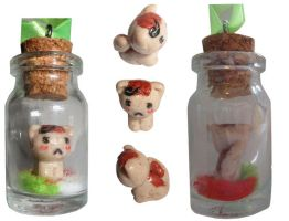 hetalia, neko romano, bottle charm by Mayu-96