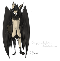 Winged Fox Doggie Anthro Version One +Closed+ by Stephys-Adoptables
