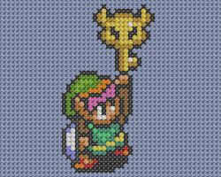Link with Key Cross Stitch by drsparc