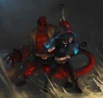 hellboy and liz by Gatling