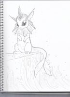 Sketch of Water Sprite by KyuremGirl