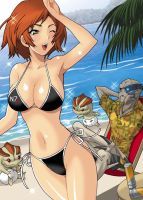 Mass Effect3: somewhere warm and tropical by yukiyanagi1111