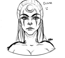 Diana Sketch by KutiPue