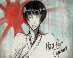 Pray for Japan by ohboyomi