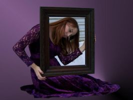 Purple dressed lady in frame by MrNGm