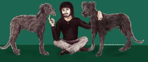 John and his wolfhounds by ThePluralofMoth