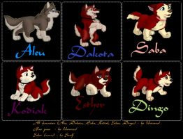 Balto and Jenna's puppies by ElwolfakaLutik