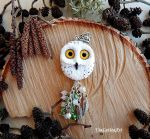 White Polar owl pendant 2 by koshka741