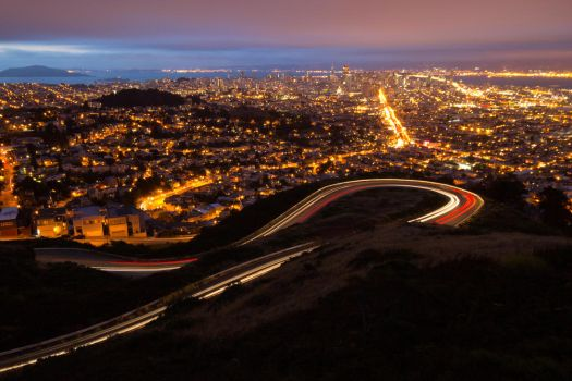 San Francisco from Twin Peaks by thevictor2225