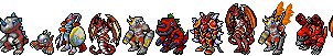 Guilmon Evolution Line(With the my fan evos) by AmazonianFisherman