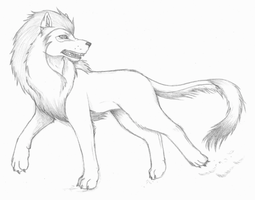 Lion+Wolf Hybrid by ShadOBabe