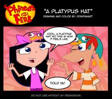 PnF:Comic Strip - A Platypus hat by DokiFanArt