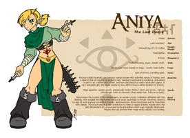 Character Guide - Aniya by foxlee