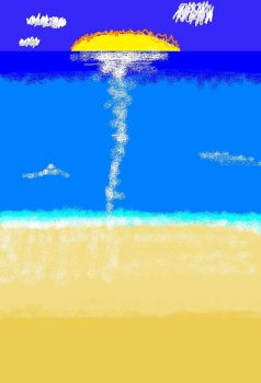 My Dads Secret Beach Drawing by Noobkiller-1000