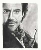 Robert Downey Jr. as Sherlock Holmes by mystic-pUlse