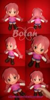 chibi Nagisa plush version by Momoiro-Botan