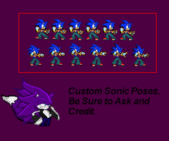 Custom Sonic Pose by LeonTheSnowWolf
