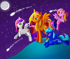 Star Gazers by PlatinumPegasister
