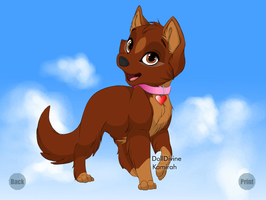 Racheal (All Dogs go to Heaven) by warriormoonnight