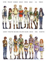 WaP - Character Lineup by fictograph