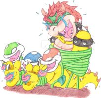 Bowser Tickle Torture: Amassed By The Plants by KnightRayjack