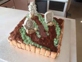 Halloween Grave Yard Cake by The-Ice-Flower